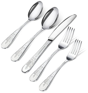 Sterling Quality, Royal Cutlery, Kitchen 20 Piece Stainless Steel Flatware Set - EK CHIC HOME