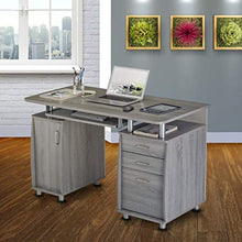 Load image into Gallery viewer, Complete Workstation Computer Desk with Storage - Grey - EK CHIC HOME