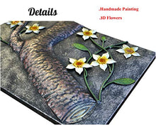 Load image into Gallery viewer, Elegant Metal Back/Yellow Flower Hand-Made Wall Sculpture 3pcs/set - EK CHIC HOME