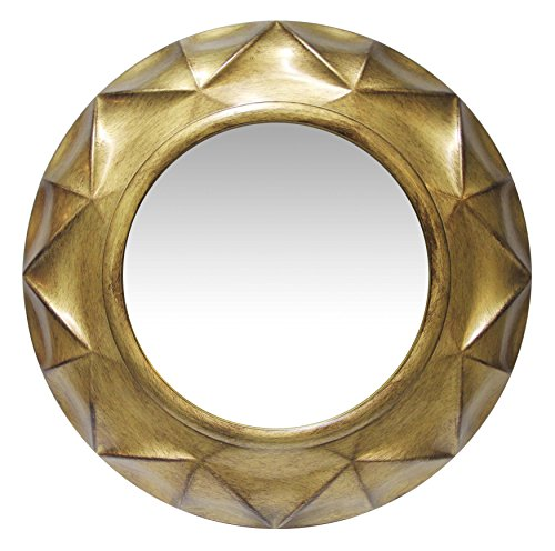 Vigil 20 Inch Antique Gold Decorative Wall Mirror - EK CHIC HOME