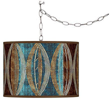 Load image into Gallery viewer, Pearl Leaf Peacock Plug-in Swag Chandelier - EK CHIC HOME