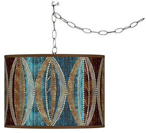 Pearl Leaf Peacock Plug-in Swag Chandelier - EK CHIC HOME