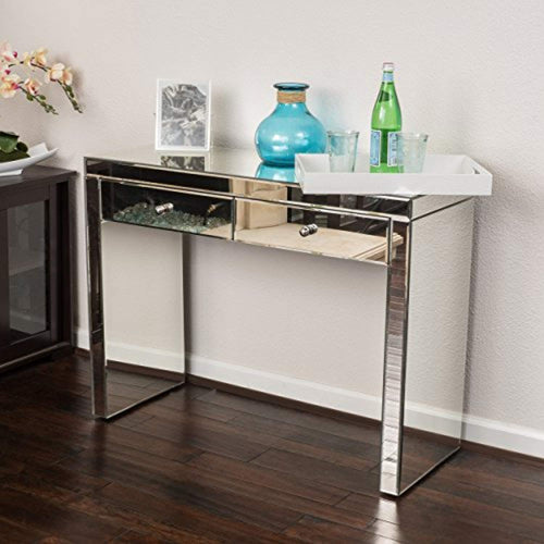 Jacinda Mirrored 2-Drawer Console Table - EK CHIC HOME