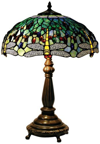 Yellow Dragonfly Tiffany Style Table Lamp - EK CHIC HOME