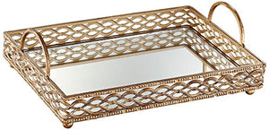 Antique Gold Mirrored Tray - EK CHIC HOME