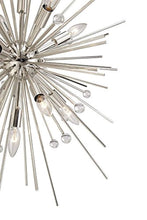 "Load image into Gallery viewer, CHIC Euro Janae 24 1/2""W Polished Nickel Pendant Light - EK CHIC HOME"