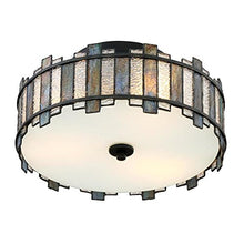 Load image into Gallery viewer, 14-in W Black Tiffany-Style Flush Mount Light - EK CHIC HOME