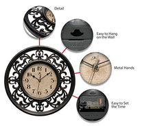 Load image into Gallery viewer, Infinity Instruments Sofia 12 inch Silent Sweep Wall Clock - EK CHIC HOME