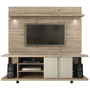 "CHIC Designs 71"" TV Stand and Panel in Natural - EK CHIC HOME"