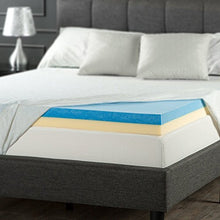 Load image into Gallery viewer, 4 Inch Gel Memory Foam Mattress Topper - EK CHIC HOME