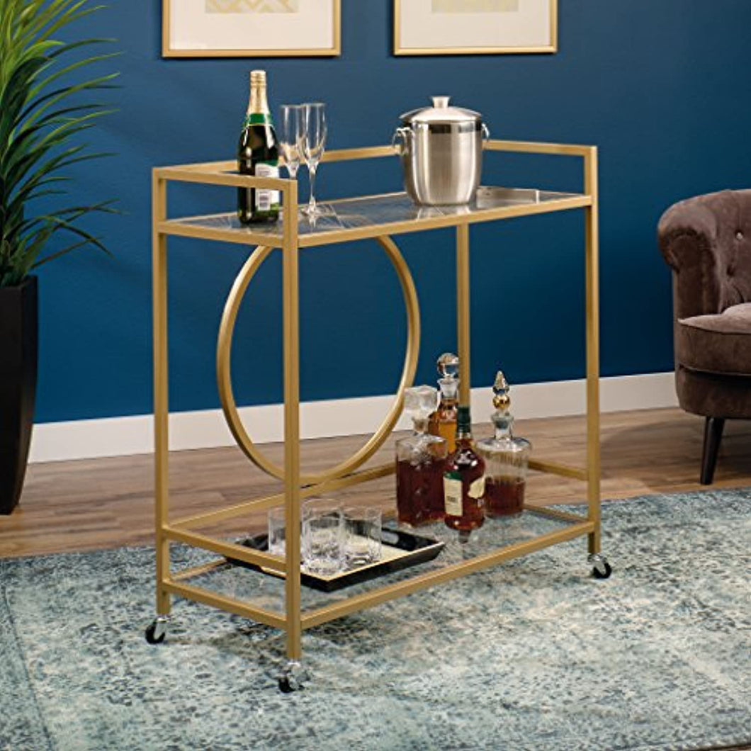 Lux Bar Cart, - Satin Gold