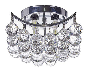 4-Light Chrome Finish Clear European Crystals Chandelier Square - EK CHIC HOME