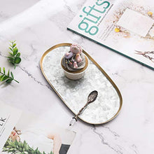 Load image into Gallery viewer, Vintage Elongated 10-Inch Oval Galvanized Serving Tray - EK CHIC HOME