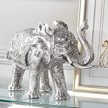 "Load image into Gallery viewer, Walking Elephant 12 3/4"" High Silver Statue - EK CHIC HOME"