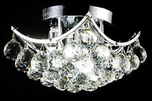 Load image into Gallery viewer, 4-Light Chrome Finish Clear European Crystals Chandelier Square - EK CHIC HOME