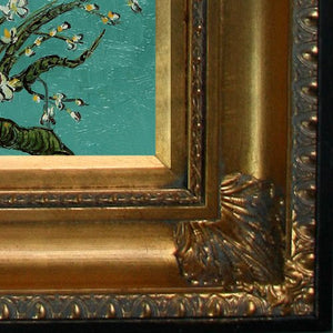 Branches of an Almond Tree in Blossom Canvas Art by Van Gogh with Regency Gold Frame/Finish: Oil Paintings: Paintings - EK CHIC HOME