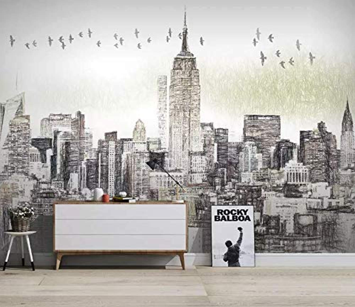 Charcoal City Wallpaper New York City Wall Mural Wall Art Architecture