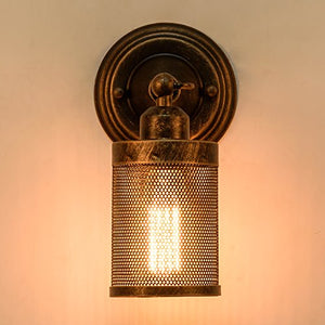 Wall Sconce Industrial Vintage 1-Light, Adjustable Wall Cage Nets - EK CHIC HOME