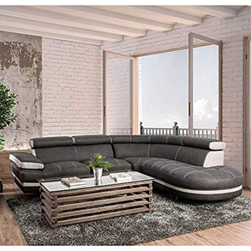 Madison Contemporary Sectional in Graphite - EK CHIC HOME