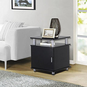 Set of 2 Night Stand End/Bedside/Coffee Tables with Storage Pair Bedroom Living Room Table Furniture - EK CHIC HOME