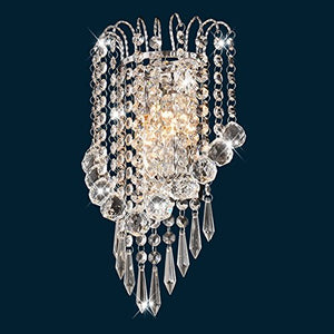 House Scone Crystal Wall Lamp, Silver - EK CHIC HOME