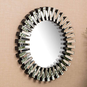 Elaina Circular Wall Mirror Clear 36INCH - EK CHIC HOME