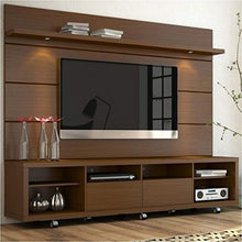 "Load image into Gallery viewer, 2.2 Series 85"" TV Stand and Panel in Brown - EK CHIC HOME"