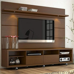 "2.2 Series 85"" TV Stand and Panel in Brown - EK CHIC HOME"