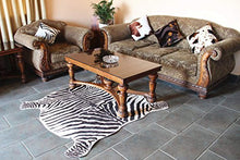 Load image into Gallery viewer, Soft Faux Zebra Print Rug 5x4.3 Feet Animal Rug - EK CHIC HOME