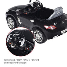Load image into Gallery viewer, Mercedes Benz SLS Rechargeable Battery Powered Ride On Vehicle, Parental Remote Control and Foot Pedal Modes, with Headlights, Music - EK CHIC HOME
