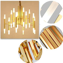 Load image into Gallery viewer, Modern Gold Chandelier Glass LED Pendant Light Fixture (24-Light Heads) - EK CHIC HOME