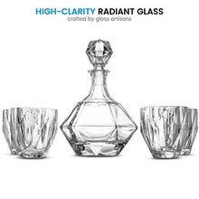 Load image into Gallery viewer, 5-Piece European Style Whiskey Decanter and Glass Set - With Magnetic Gift Box - EK CHIC HOME