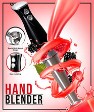 "Load image into Gallery viewer, Premium Hand Blender with 8"" Removable Blending Arm - 2 Touch Speed Adjustable - EK CHIC HOME"