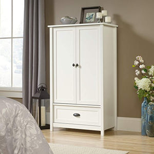 "County Line Armoire, L: 33.31"" x W: 18.58"" x H: 56.97"", Soft White finish - EK CHIC HOME"