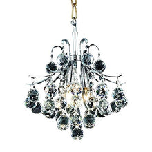 Load image into Gallery viewer, Elegant 3-Light Hanging Fixture with Elegant Cut Crystals, Chrome Finish - EK CHIC HOME