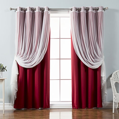 Mix & Match Tulle Sheer Lace & Blackout Curtain Set 52