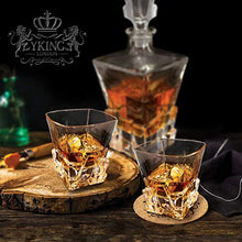 Load image into Gallery viewer, Whiskey Decanter Set in Premium Gift Box with 4 Glasses and 4 Coasters - EK CHIC HOME