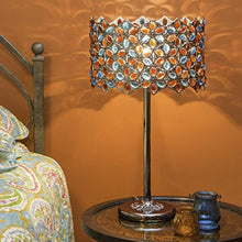 "Load image into Gallery viewer, Poetic Wanderlust 23""H Fairlea Jeweled Chrome Table Lamp - Multicolored Crystal - EK CHIC HOME"