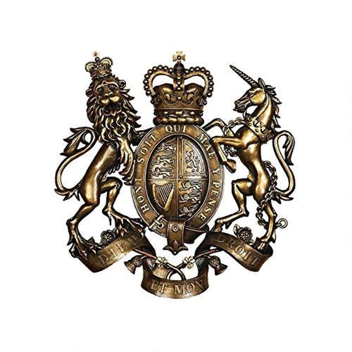 Royal Coat of Arms of Great Britain Wall Sculpture - EK CHIC HOME