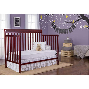 Convertible 4 In 1 Crib, Cherry - EK CHIC HOME