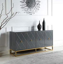 Load image into Gallery viewer, High Gloss Lacquer Sideboard/Buffet, Grey