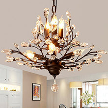 Load image into Gallery viewer, Vintage Crystal Branch Chandeliers Black With 7 Light - EK CHIC HOME