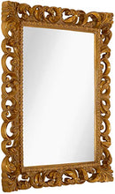 "Load image into Gallery viewer, Antique Gold Frame Mirror (28.5"" x 36.5"") - EK CHIC HOME"