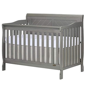 Ashton Full Panel Convertible 5-in-1 Crib, Storm Grey - EK CHIC HOME