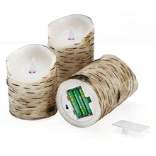 Load image into Gallery viewer, Flickering Candles, Candles Birch Set of 3 - EK CHIC HOME