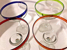 Load image into Gallery viewer, Chic Colors Margarita Glass Set, 4-Piece - EK CHIC HOME