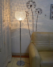 Load image into Gallery viewer, Ball Shape Crystal Floor Lamp, Silver - EK CHIC HOME