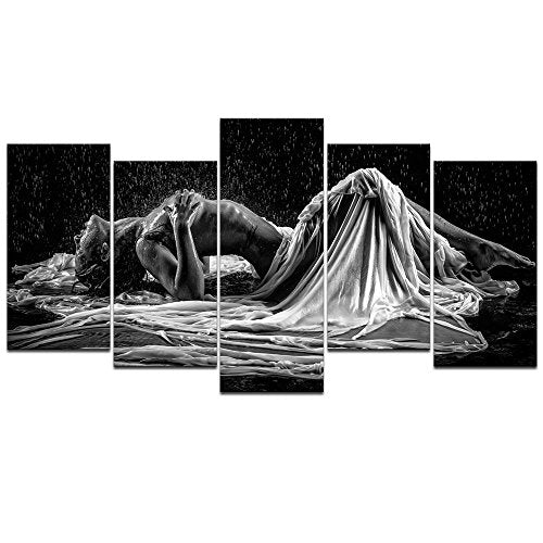 Naked Girl in The Rain Picture Canvas Print - EK CHIC HOME