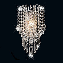 Load image into Gallery viewer, House Scone Crystal Wall Lamp, Silver - EK CHIC HOME