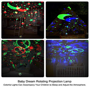Night Light Projector Remote Control and Timer Design Projection Children Gift - EK CHIC HOME